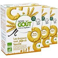 Good Goût - BIO - Biscuits Tout Ronds à la Vanille dès 10 Mois Bio 80 g - Lot de 3