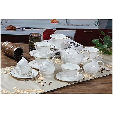 MSRRY Inglese bone china tazza da caffè continentale kit pacchetto Golf il tè del pomeriggio/tazza da caffè fiore Kit tazze