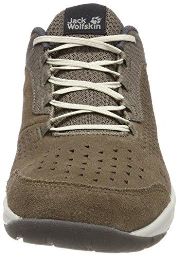 Jack Wolfskin Herren Seven Wonders Low M Sneaker Braun (Siltstone)