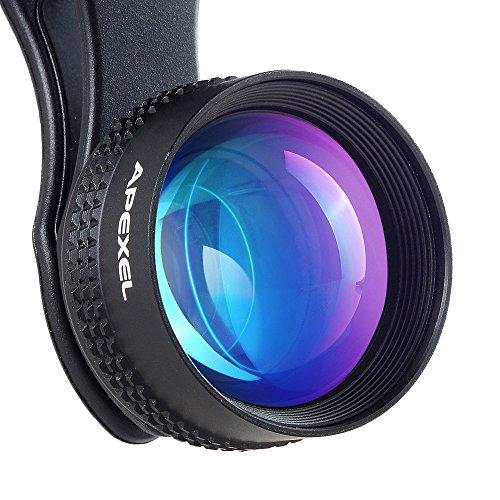 Apexel Super-Weitwinkel Fisheye-Objektiv-Set mit Lanyard für iPhone/Samsung Smartphone