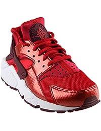 Nike Damen Air Huarache Run Trainer Rot (Sport Fuchsia/White/Gum Yellow) 39 EU