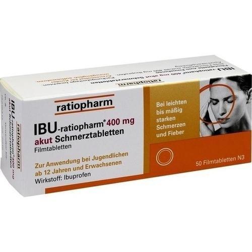 IBU-ratiopharm 400 akut Schmerztabletten 50 stk