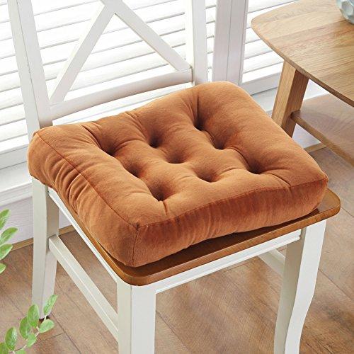 XMZDDZ Kissen plüsch verdicken,Quadratische sitzkissen Tatami Wohnzimmer teppiche übergroßen Square Stuhl Stock pad Kissen Sitz Balkon Yoga-K 45x45cm(18x18inch)