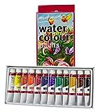 Mont Marte Wasserfarben/Aquarellfarben Set (12ml) – 12 Stück – Ideal für Aquarellmarlerei – Brilliante Farben