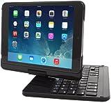 iPad Mini 1, iPad Mini 2 and iPad Mini 3 Keyboard, Snugg [Black] Wireless Bluetooth Keyboard Case Cover [Lifetime Guarantee] 360° degree Rotatable Keyboard for iPad Mini 1 iPad Mini 1, iPad Mini 2 and iPad Mini 3