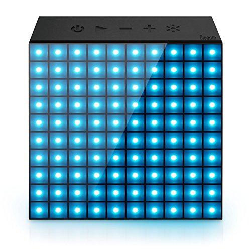 Divoom® Aurabox altoparlante Bluetooth 4.0Smart LED con controllo app per Pixel Art Creazione + animazione e social media notifica. Microfono integrato per chiamate in vivavoce