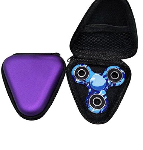 Preisvergleich Produktbild Lanspo Staubdichte Tasche Box Fall für Fidget Hand Spinner EDC Fidget Spinner Fokus Fingerspitze Gyro Toys Paket Tasche (Lila)