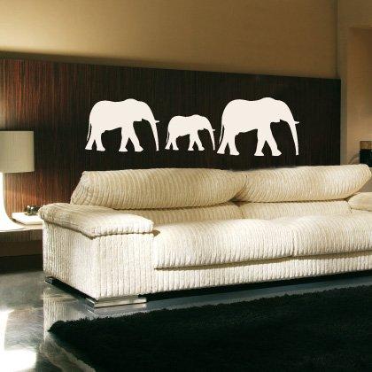 WANDTATTOO / Wandsticker w194 Elefant Afrika Tier Wandaufkleber 40x33cm, schwarz (Vinyl-wand-aufkleber-elefant)