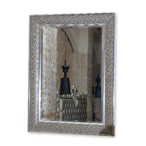 Miroirs De Frontière Européen Carré De Vanité Fixé Au Mur De Salle De Bains Argenté De Salle De Bains Mince De Côté Argenté Cadeau De Femme