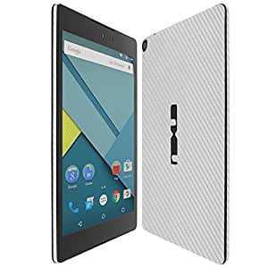 Skinomi® TechSkin - HTC Nexus 9 Screen Protector + Silver Carbon Fiber Full Body Skin Protector with Free Lifetime Replacement Warranty / Front & Back Wrap / Premium HD Clear Film / Ultra High Definition Invisible and Anti-Bubble Crystal Shield - Retail Packaging