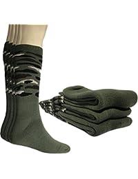 Lot de 4 paires de chaussettes homme Mi- Bas hautes Randonnée Chasse ski.( c012f977d54