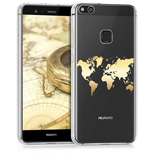 kwmobile Huawei P10 Lite Hülle - Handyhülle für Huawei P10 Lite - Handy Case in Gold Transparent