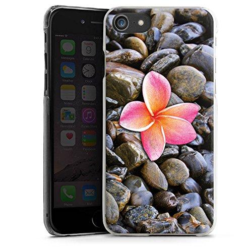 Apple iPhone X Silikon Hülle Case Schutzhülle Blüte Pink Kiesel Hard Case transparent