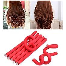 Ckeyin® 10pcs –Rulos flexibles de espuma 24x 1.0cm–DIY herramienta de peluquería para las mujeres/niños (rojo)