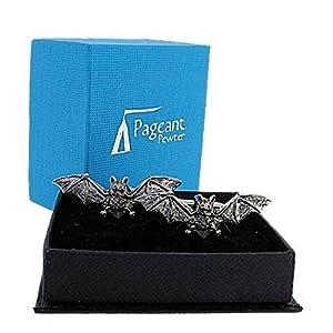 VAMPIRE BATS Polierte Manschettenknöpfe aus Zinn, in Geschenkbox, hergestellt in England