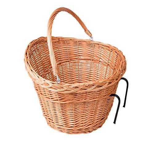 Handgeflochtener Fahrradkorb für Lenkstange aus 100% natürlicher Weide 29 x 40 x 35 (K2)
