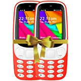 I KALL 2.4 Inch Display Dual Sim Mobile Combo -K35(Red & Red)