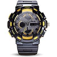 WENY Reloj Deportivo Digital para Hombre Pantalla LED Reloj Militar de Gran tamaño y Alarma cronológica Impermeable Impermeable a Prueba de Agua Reloj Simple para ejército Opcional (Color : Yellow)
