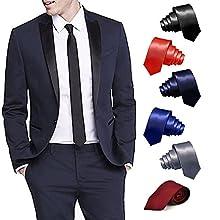 fa56f9b08345 ShopLuvOnline Combo Set of 6 Slim Men's Tie, Necktie For Him Birthday B'day