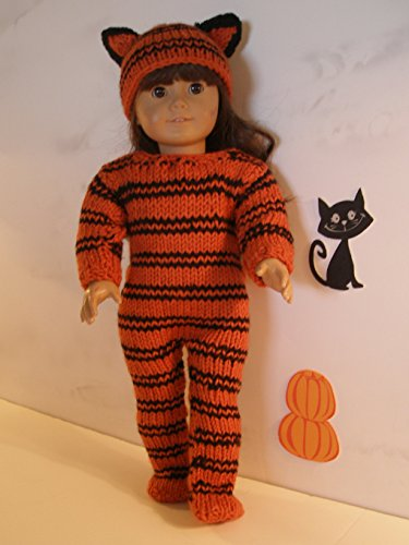 Tiger Outfit for Halloween: Doll knitting pattern (English Edition)
