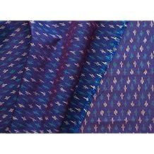 Fabrics By Heritage Trading Púrpura Ikat Tela de Seda urdimbre de Algodón de la Trama Irridesent