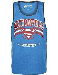 Superman Metropolis Camiseta Tirantes Azul jaspe