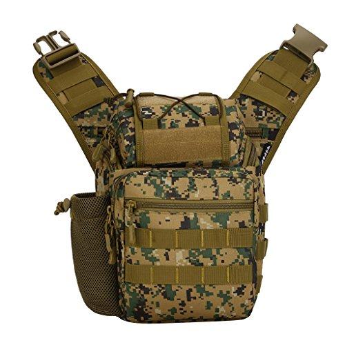 Gazechimp Herren, Männer Umhängetasche Taktische Schultertasche Outdoor Sporttasche Freizeittasche Woodland Digital