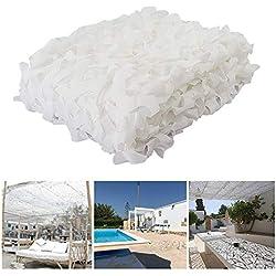 Blanc Filet de Camouflage Renforcé Camo Filet Extérieur Neige Intérieur Camouflage Soleil Ombre Filet Auvents pour Patios Écran Solaire Maille Jardin 2x3m 3x4m 10m (Taille : 4 * 5M(13.1 * 16.4ft))