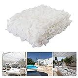 Weißes Tarnnetz Tarnnetz Outdoor Schnee Interieur Tarnnetz Sonnenschutz Markisen für Terrassen Sonnenschutzgitter Gartennetz 2x3m 3x4m 10m (größe : 5 * 6M(16.4 * 19.7ft))