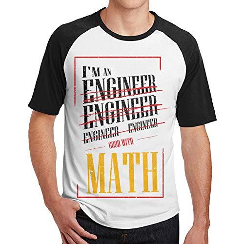 da83b01275 Ytwww123 Cool I'm An Engineer Buono con Math Funny Sarcasm Men's Short  Sleeve Magliette