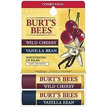 Burt's Bees Combo Pack Wild Cherry and Vanilla Bean Lip Balm (1)
