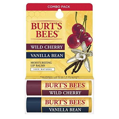 burts-bees-100-natural-lip-balm-wild-cherry-and-vanilla-bean-blister-box-03-ounce-2-count-by-burts-b