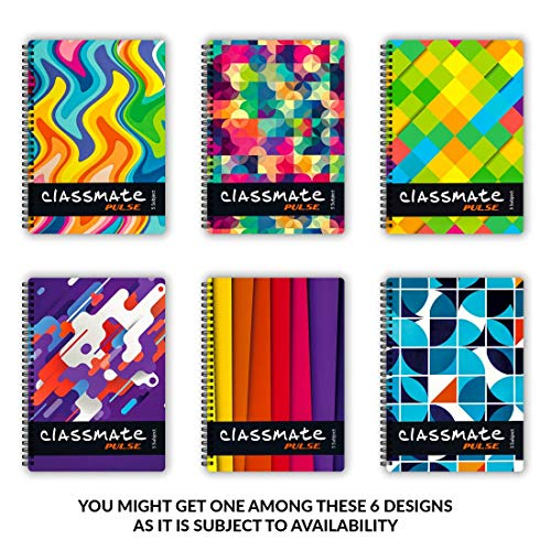 Classmate Premium 6 Subject Spiral Notebook - 203mm x 267mm, Soft Cowl, 300 Pages, Unruled Image 3