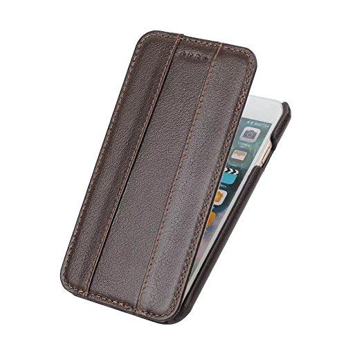 Étui pivotant vertical, housse de luxe en cuir véritable Premium Housse de couverture magnétique pour IPhone 7 Plus et 8 Plus ( Color : Wine ) Brown