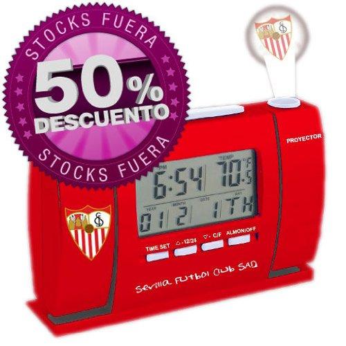 Oficial Sevilla Futbol Club SAD Proyector LCD Reloj (3302048)