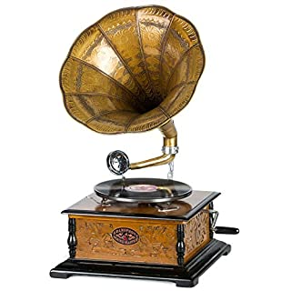 aubaho Nostalgie Grammophon Schellackplatte Gramophone Trichtergrammophon antik Stil