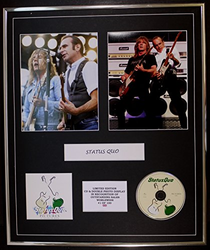 STATUS QUO/cd e doppio display foto / edizione ltd / coa/PICTURES 40 YEARS OF HITS