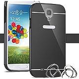 Funda Espejo Aluminio Metal Carcasa para Samsung Galaxy S5 Color Negro