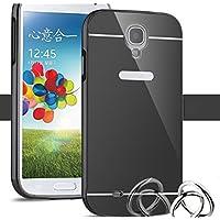Funda Espejo Aluminio Metal Carcasa para Samsung Galaxy S4 Mini Color Negro