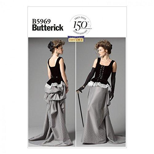 Butterick Schnittmuster 5969–Historisches Kostüm Korsett & -
