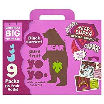 Bear Pure Fruit Yoyos Blackcurrant 9 x 20g