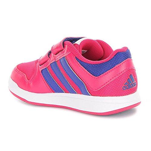 Adidas - Trainer 6, Sneakers per bambine e ragazze Azzuro-Rosa