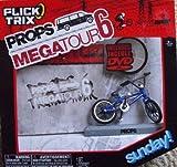 FLICK TRIX - PROPS MEGATOUR 6 - Finger Bike / BMX Bike mit DVD in englisch - SUNDAY - Fahrrad/Bike : Blau -Spinmaster