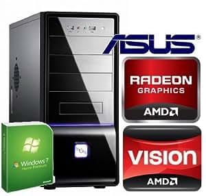 Tronics24 Pc-System AMD AthlonII X2 Dual-Core 215 2.7GHz Socket AM3 1MB 2x2,7 GHz, 4 GB DDR2, Asus, 1 GB ATI Radeon HD4850, 500 GB SATA, DVD-Brenner, Sound, Lan, 24 Monate Garantie