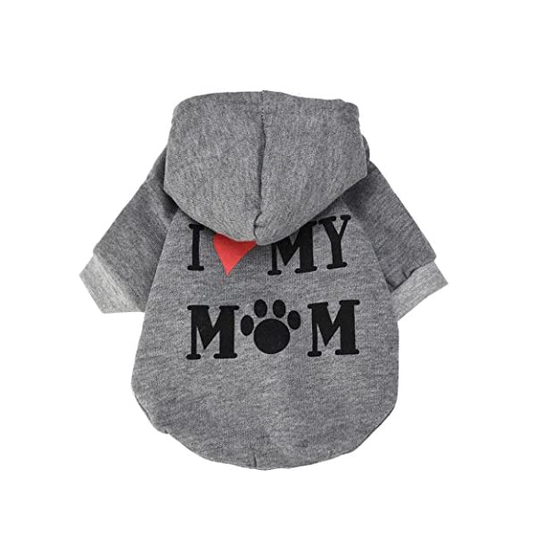 Familizo dog clothes, Small Pet Dog Clothes Fashion Costume Puppy Cotton Blend Hoodie T-Shirt Apparel 1