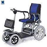 CSCR Elektro Scooter Für Senioren, Für Senioren Und Behinderte Faltbar Faltbar 20 Ampere Lithiumbatterie -Endurance 30 Km (Blau),A