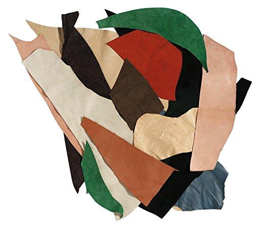 rayher-hobby-8301500-ritagli-di-pelle-500g-colori-misti
