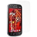 atFolix Panzerschutzfolie für Samsung Galaxy S Duos 2 Panzerfolie - 3 x FX-Shock-Antireflex blendfreie stoßabsorbierende Displayschutzfolie