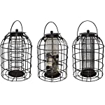 Green Jem BF6-NEW2 Dome Shaped Caged Seed Wild Bird Feeder, Brown Hammer Tone, 15.5x15.5x23 cm 6
