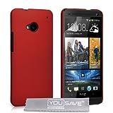Yousave Accessories® HTC One Harte Taschen rot